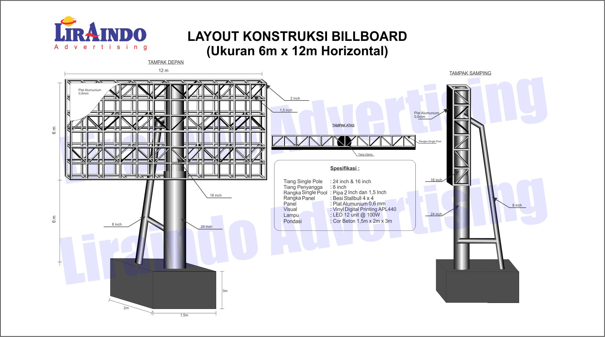 Design Konstruksi Billboard