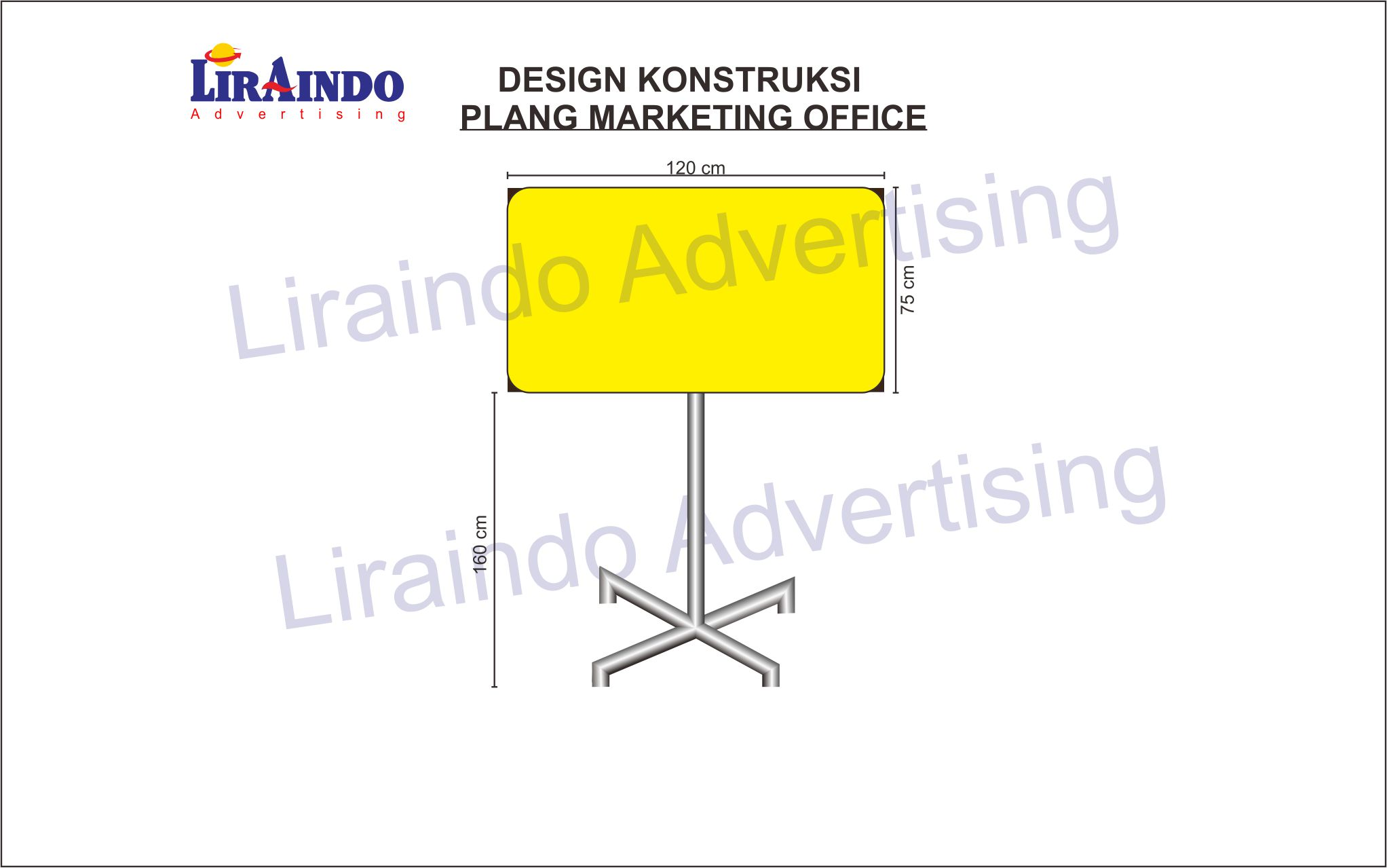 Konstruksi Plang Marketing Office